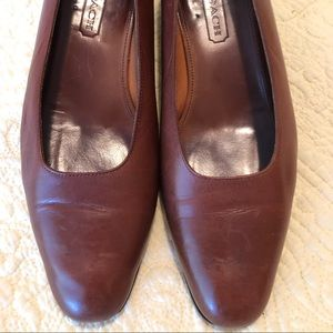 Coach leather pumps